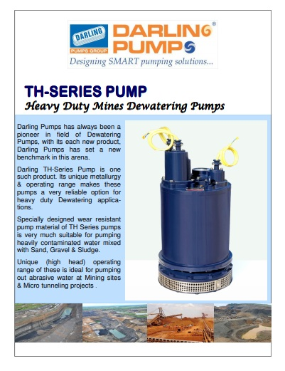 TH series dewatering pumps