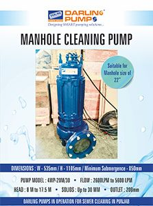 Manhole Cleaning Pump